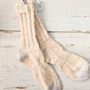 Free people fuzzy knit socks